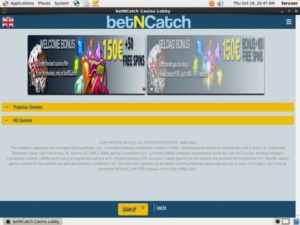 Bet N Catch Eu Debit