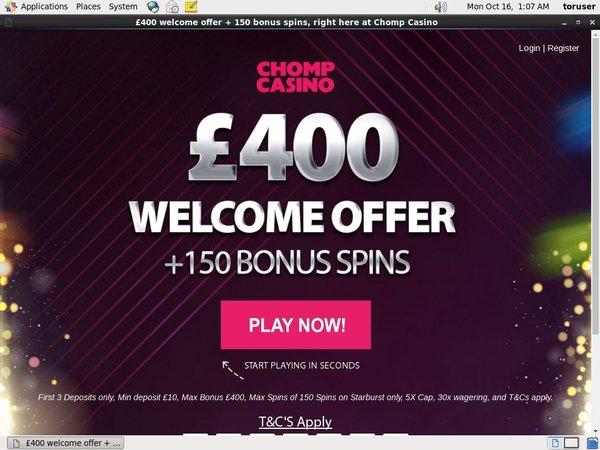 Chomp Casino Telephone Betting