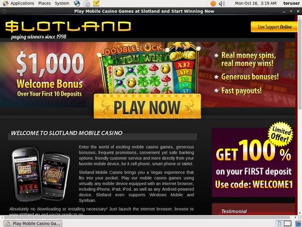 Slot Land Mobile Max Limit