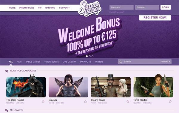 Sugar Casino Bonus List