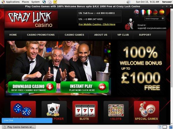 Casino Bonus Crazyluckcasino