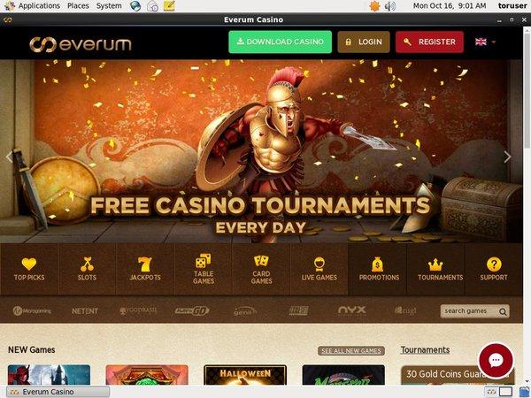 Everum Casino Texas Hold Em
