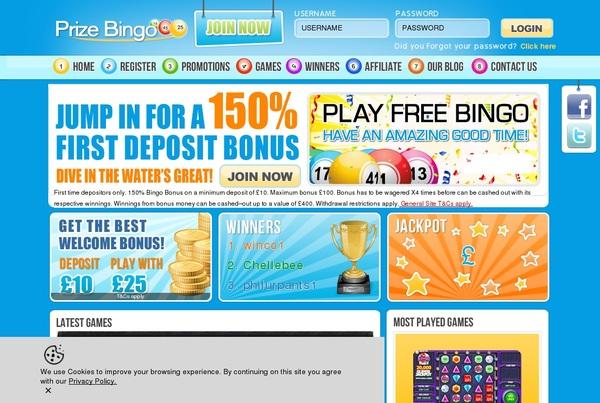 Prize Bingo Account Setup