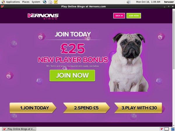 Vernons Best Deposit Bonus