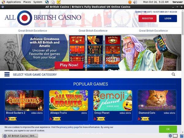 All British Casino Live Streaming