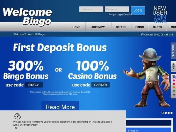 Welcomebingo Online Casino Websites
