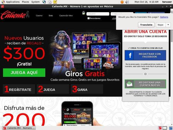 Caliente Casino Spil Bonus
