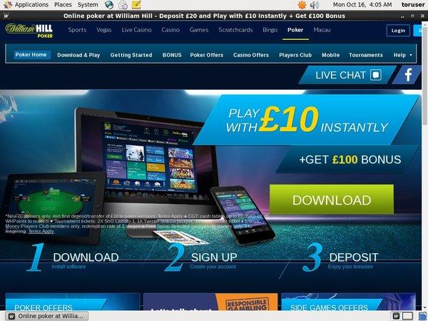 Get William Hill Poker Account