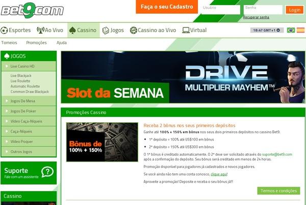 Bet9 Slots Online