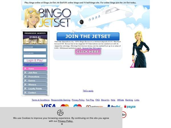 Bingo Jetset Uk Mobile