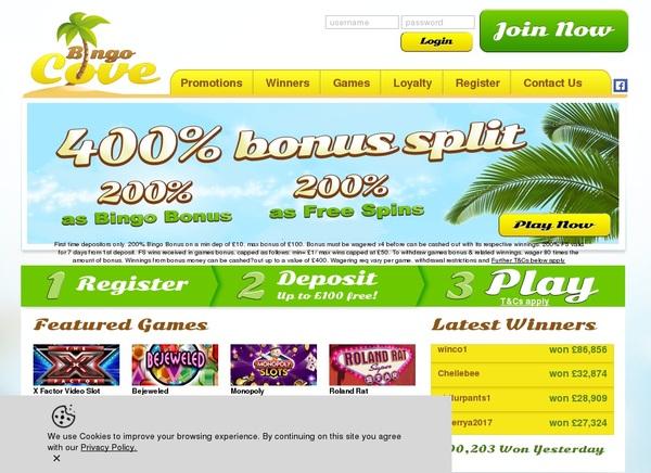 Bingo Cove Deposit Page