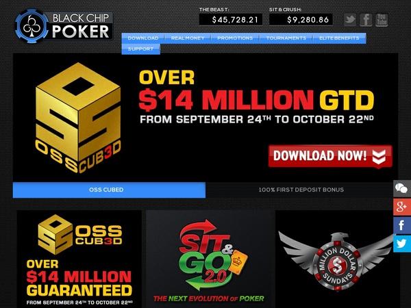 Signup Bonus Black Chip Poker