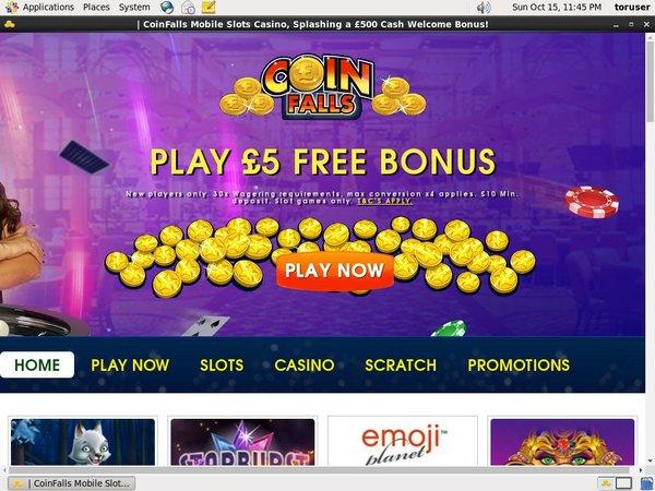 Coin Falls Casino Welcome Bonus Offer