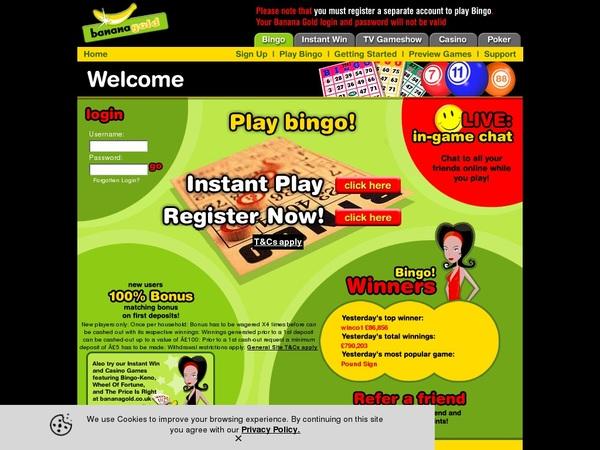Banana Bingo Registrieren