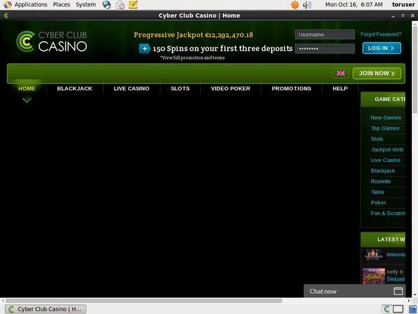 Cyberclubcasino 200 Bonus