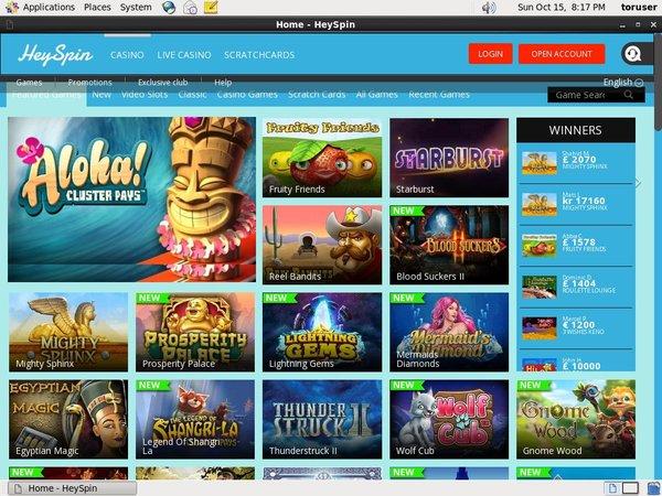 Heyspin Games App