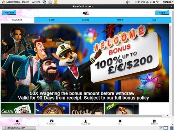 Rawcasino Bonus Code No Deposit